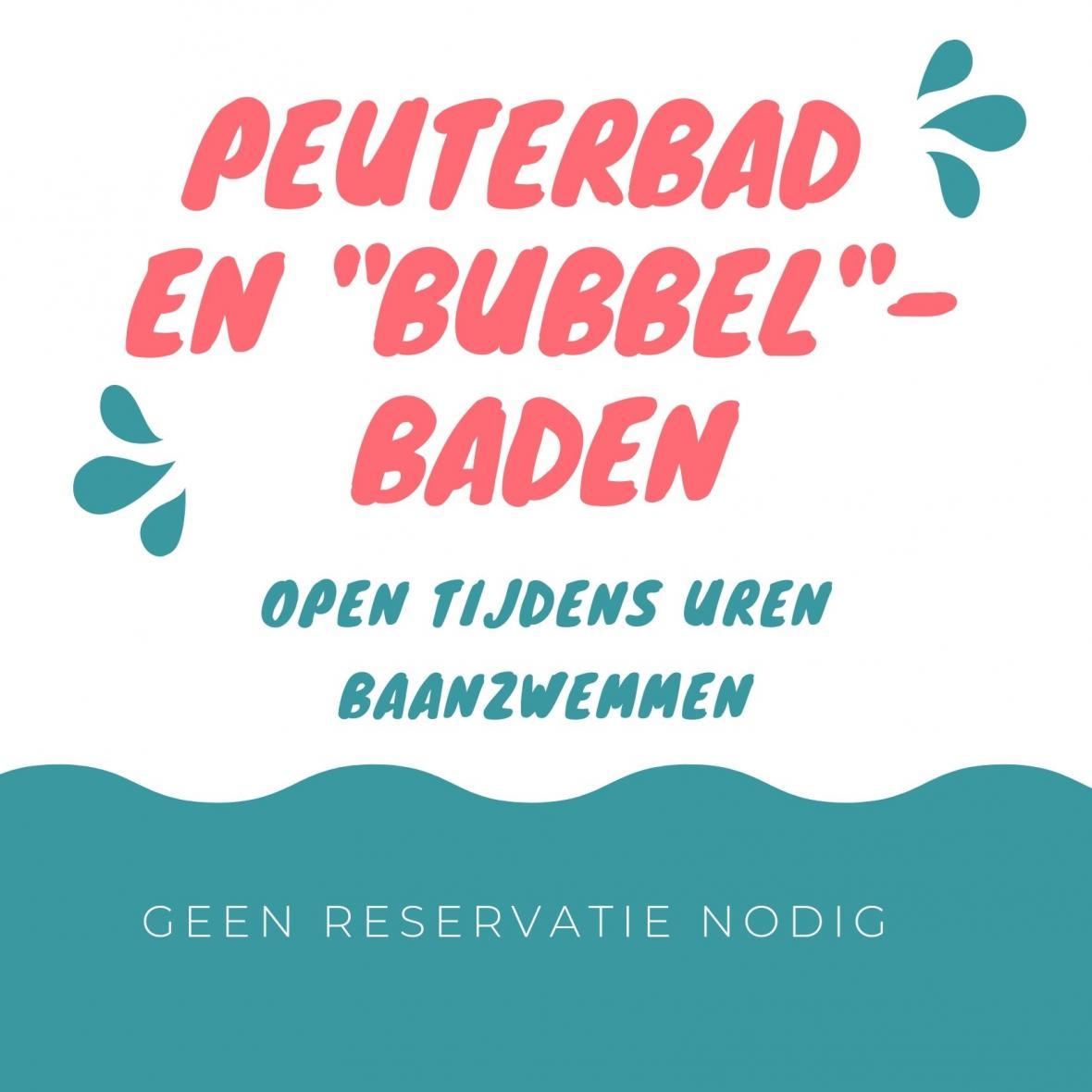 Peuter- en bubbelbaden open