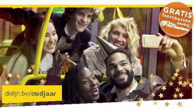 gratis bussen op oudjaarsnacht 31/12/2018 -