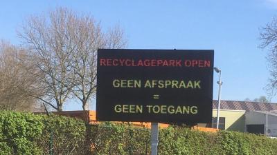 Recyclagepark Zelzate werkt op afspraak -