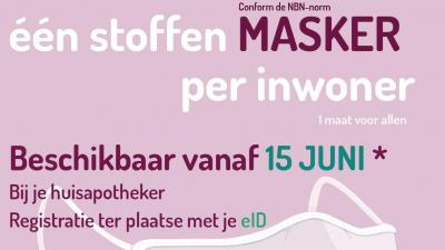 1 mondmasker per inwoner -