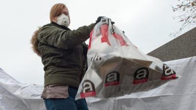 Asbest verpakt aanleveren in recyclagepark -