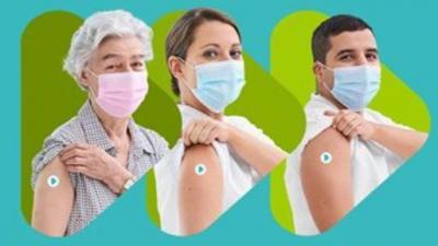 Huisartsen van de Verenigde Meetjeslandse Huisartsenkring laten zich vaccineren -